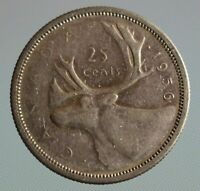 1956 Canada quarter - this 25 cent coin is 80% silver