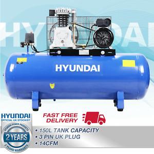 🔵 Air Compressor 150L Litre Ltr  3hp 145psi 10bar 14cfm Belt Drive 2Cylinder 🔵