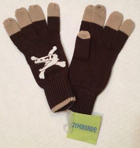 NWT Gymboree Preppysaurus Sz 8 and Up Brown Knit Dinosaur Gloves