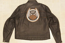 Harley Davidson Men's 105th Anniversary Black Leather Jacket 2XL 97105-08VM Rare