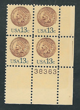 Scott #1734...13 Cent...Indian Head Penny....10 Plate Blocks...40 Stamps