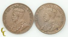 1914 & 1917 Canada One Cent 1C Lot of 2 Coins (XF-BU Condition) KM# 21
