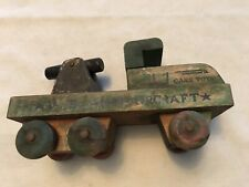 CANN TOYS Vintage Primitive Wood Anti Aircraft Truck Gun
