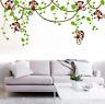 Wandtattoo Sticker Affe Monkey Kinderzimmer Jungle Schlingpflanzen Aufkleber#162