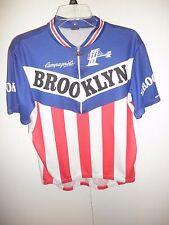 Brooklyn Short Sleeve Cycling Jersey Shirt Full Length Zipper Mens L, Giordana