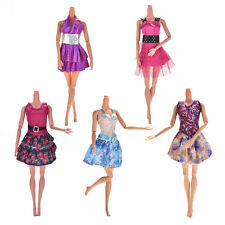 Lot 5X Handmade Wedding Dress Party Gown Clothes Outfits For Barbie Doll Gift RC