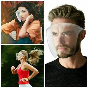 Face Shield Visor Protection Plastic Mask PPE Shield Transparent Clear