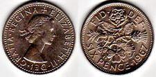 Queen Elizabeth English Sixpence: Bride's Wedding Coin