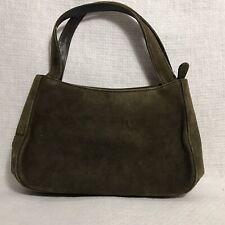 Bally New w/Tag Suede Shoulder Bag Bronze Small Handbag Purse Made in Italy