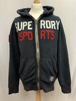 Mens   SuperDry Sports Super Premium Fleece Hoodie   Navy   Size M