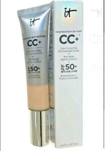 IT Cosmetics CC+ Color Correcting Full Coverage Cream LIGHT 1.08oz