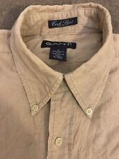 GANT Men's Long SLEEVE Cord Button Front Shirt Size Small