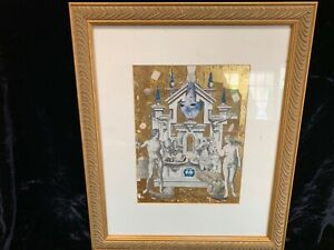 """Philip Standish Read """"Time to Choose"""" mixed media collage signed lower right"""