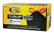 Ruffies Pro 33 gal. Trash Bags Drawstring 25 pk