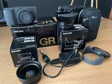 Ricoh GRII 16.2 MP Digital Camera + GW-3 Wide Angle Lens. Low Shutter Count!