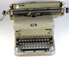 Vintage Working Royal Touch Control Typewriter With Black Glass Keys