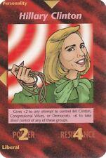 ILLUMINATI NEW WORLD ORDER CARD PERSONALITY HILLARY CLINTON RARA