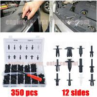 350pcs Clips Car Body Retainer Push Pin Rivet Trim Moulding Fastener Screwdriver