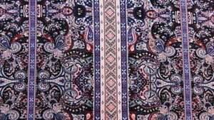 100% Rayon. Textured Eurasian inspired print. Paisleys with hues of browns By Yd