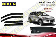 SMOKED DOOR WINDOW VENT VISOR SUN DEFLECTOR FIT FOR FORD ESCAPE KUGA 2012-UP