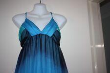 Sexy Mooloola Blue/Green Sheer Dress Sz 14