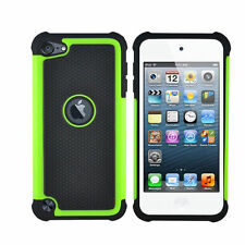 Hot Triple ShockProof Silicon Case Cover For IPod Touch 4th Generation Gen UK