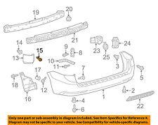 TOYOTA OEM Rear Bumper-Cover Screw 9015960266