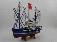 PESCHERECCIO Veliero Modellino Barca Nave in Legno VINTAGE Boat FATTA A MANO
