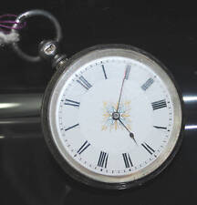 English Hall Marked Silver Antique Pocket Watch 1880