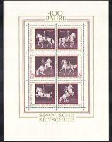 Austria 1972 Spanish Riding School/Horses/Animals/Nature/Transport 6v sht n38325
