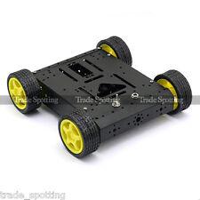 SainSmart 4WD Drive Aluminum Mobile Car (Black) Robot Platform for Arduino Motor