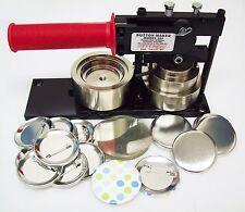 2-1/4 2.25 Inch Standard Tecre Button Maker Machine w/ 500 Pin Back Button Parts