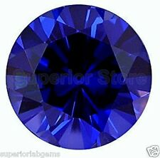 10.00 mm 5.00 ct  Round Cut Lab  Blue Sapphire WITH LIFETIME WARRANTY