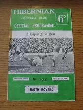 02/01/1969 Hibernian v Raith Rovers  (Heavy Creased, Fold, Team Changes & Adhesi