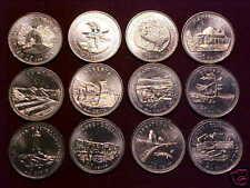 1992 CONFEDERATION QUARTER SET, 12 COINS ALL B.U. &&&&&
