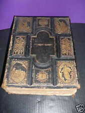 PICTORIAL HOME BIBLE 1873  Flint Elaborately Detailed