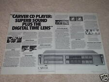 Carver CD Player Ad, Digital Time Lens explained,2 pgs