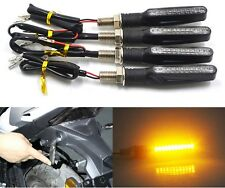 4X Motorcycle Bike LED Amber Turn Signal light Indicator Bulb For Bajaj