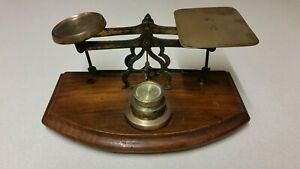 Antique Post Office Letter Scales With Weights