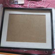 Grand tableau vide sous verre (verre cass) noir et blanc -  POIDS : 2114 g LARGE