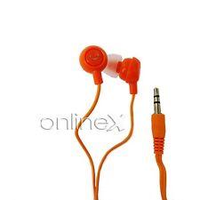 Auricular Fruit Naranja Universal Jack de 3.5mm MP3 MP4, Reproductor Música a353