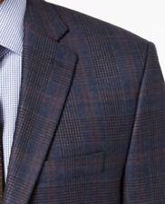 Lauren Ralph Lauren Blazer Size 56R Men Wool Suit Jacket Blue & Brown Windowpane