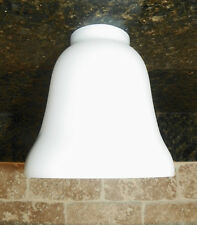 """NEW! White Bell Shape """"Opal Glass"""" Replacement Light Shade"""