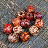 100pcs Wooden Beads Large Hole Mixed For Macrame Jewelry Crafts Making New