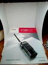 ICOM IC-24AT IC-24ET BROCHURE ORIGINALE RADIO HF AMPLIFICATORE