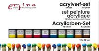 Künstlerbedarf - Acrylfarbenset 12x12 ml