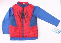 Spider-Man 2 piece Boy's Toddler set (vest, long sleeve shirt) NWT sizes 2T-5T