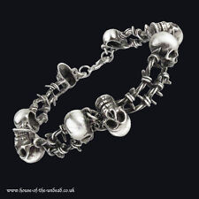 Alchemy Gothic No Mans Land small Unisex Bracelet. Skeletons. Barbed Wire.