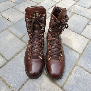 Gucci Brown Leather Men's Mountain Fashion Boots sz 12 US / 45 EUR