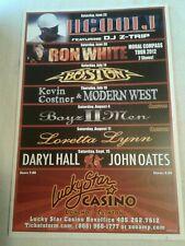 Concert Poster Summer Lineup 2012 Lucky Star Casino Okla LL Cool J BOYZ II MEN